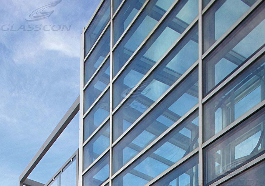 Aluminum curtain walls stick system glasscon gmbh for Wall to wall curtain