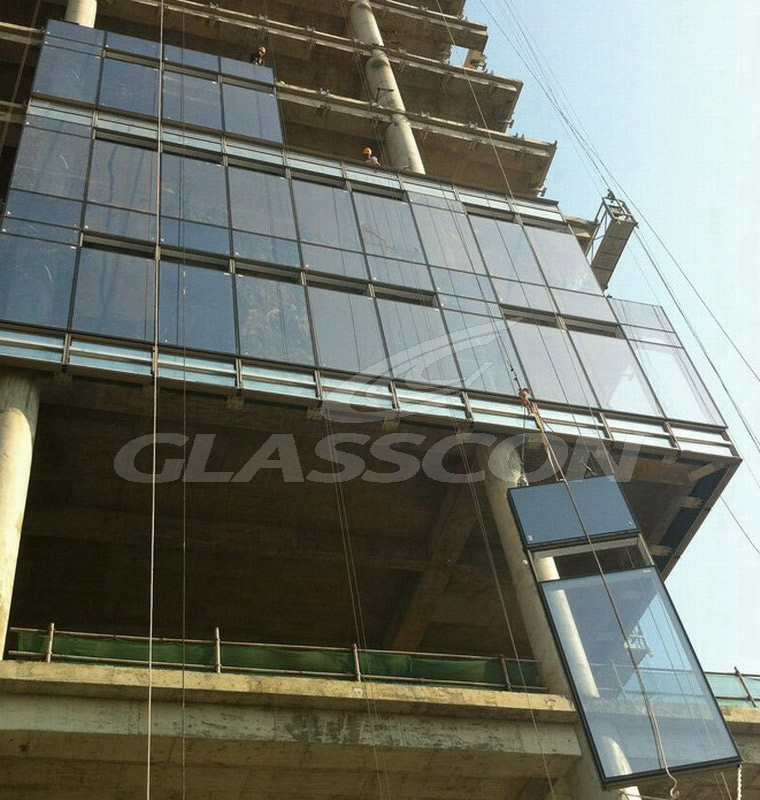 Aluminum curtain walls unitized system glasscon gmbh