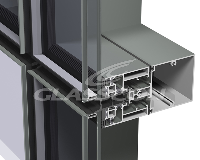Aluminum Wall System : Aluminum curtain walls unitized system glasscon gmbh