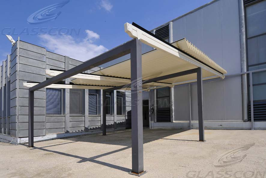 Aluminum Louver Retractable Pergolas Glasscon Gmbh