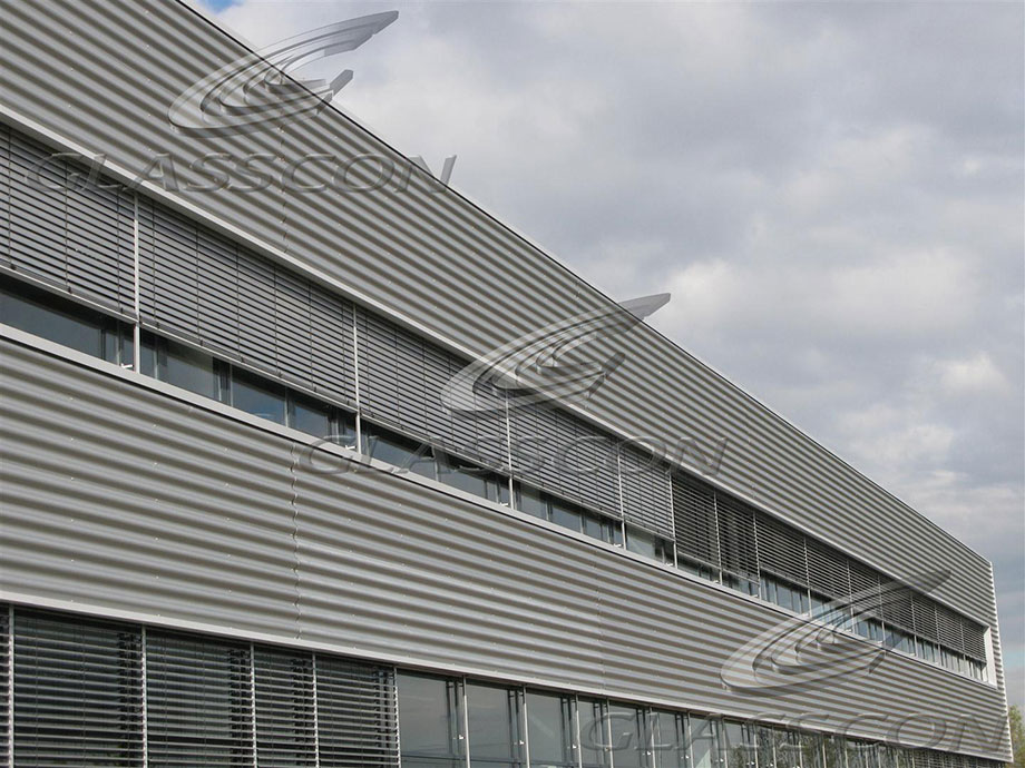 Corrugated profiled metal panels for roofing siding for Architectural siding