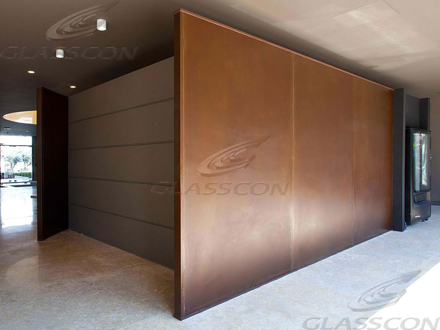 Quot Glasscon Ghp Alu Corten Steel Quot Honeycomb Panel For