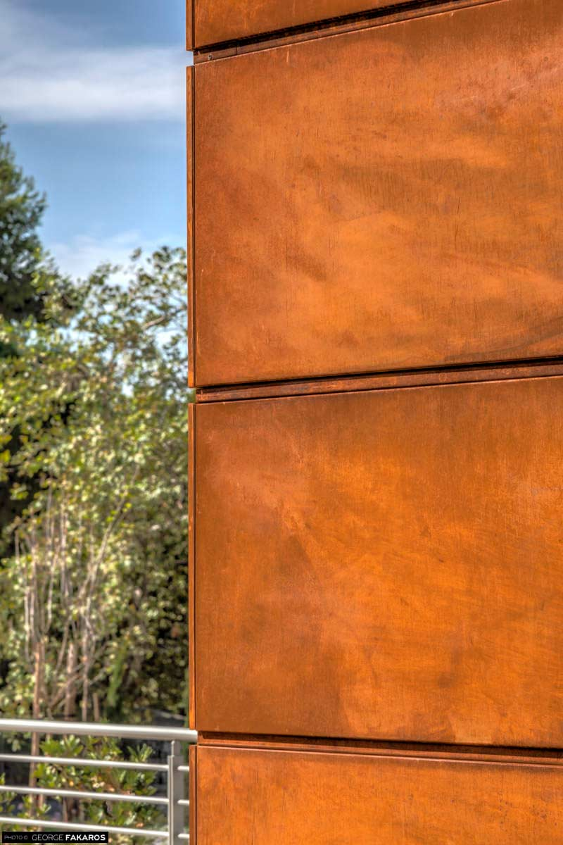 glasscon ghp alu corten steel honeycomb panel for cladding solar shades glasscon gmbh. Black Bedroom Furniture Sets. Home Design Ideas
