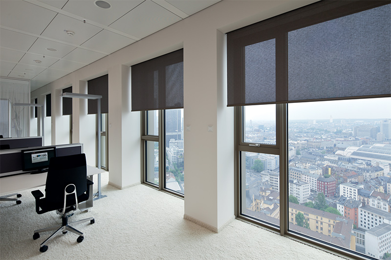 Interior Solar Shades Blinds Glasscon Gmbh Architectural Building Skins Fa Ade Solutions