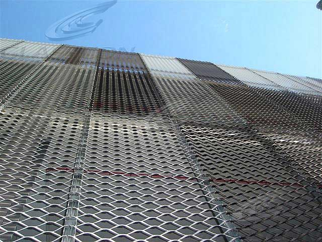 Metal Cladding Materials Perforated Embossed Glasscon