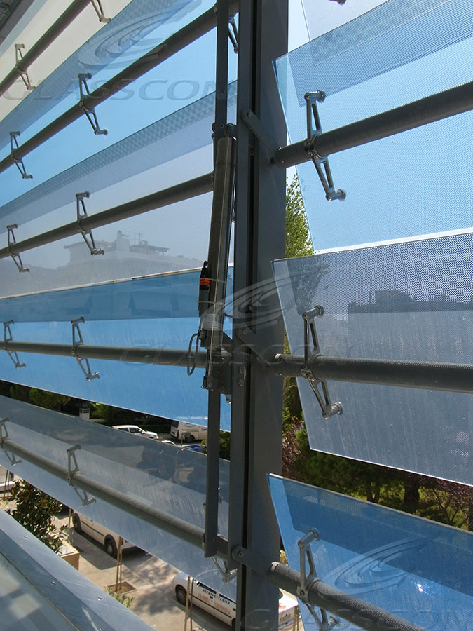 Glass Louvers Motorized Or Fixed Glass Shades Glasscon