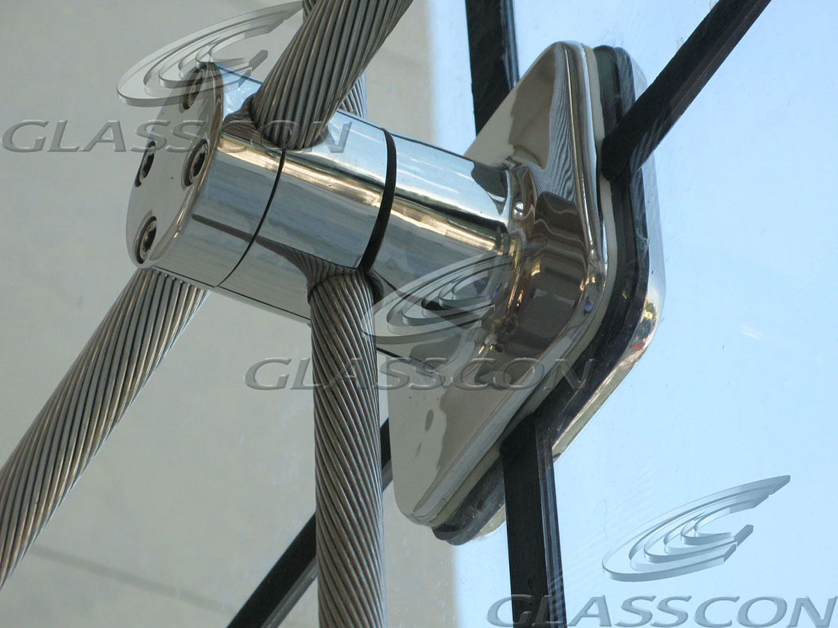 Suspended Curtain Wall : Cables glazed walls suspended glazing glasscon gmbh