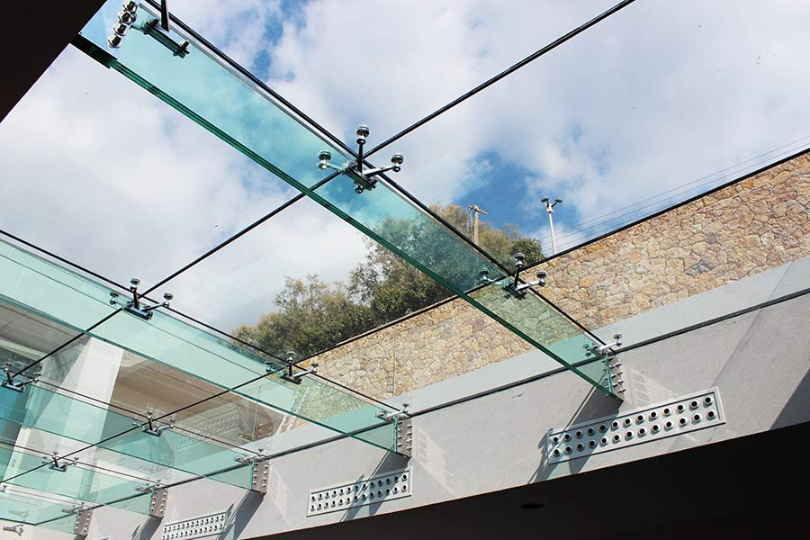 Structural Glass Roof With Glass Fins Glasscon Gmbh
