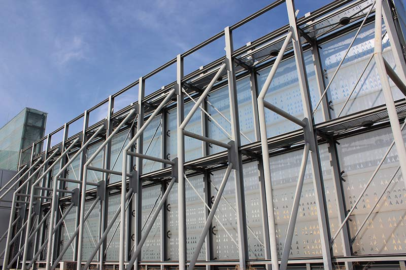 Double Curtain Wall : Curtain walls double skin façade with glass frit