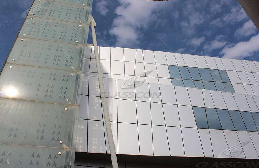 Curtain Walls Amp Double Skin Fa 231 Ade With Glass Frit