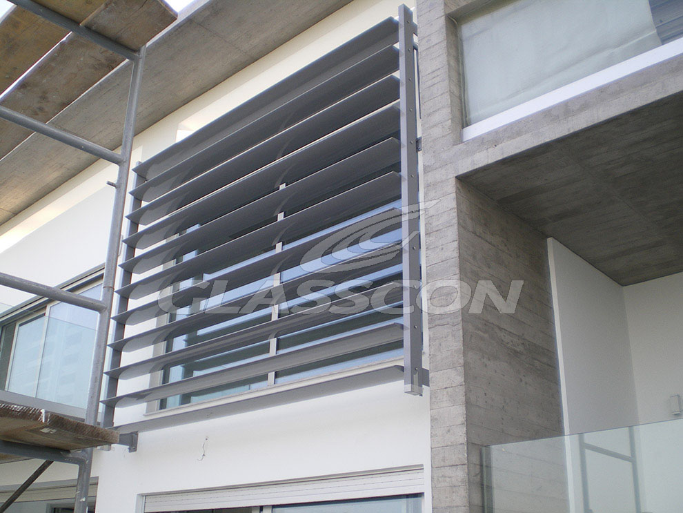 Brise Soleil With Aluminum Louvers Residential Glasscon