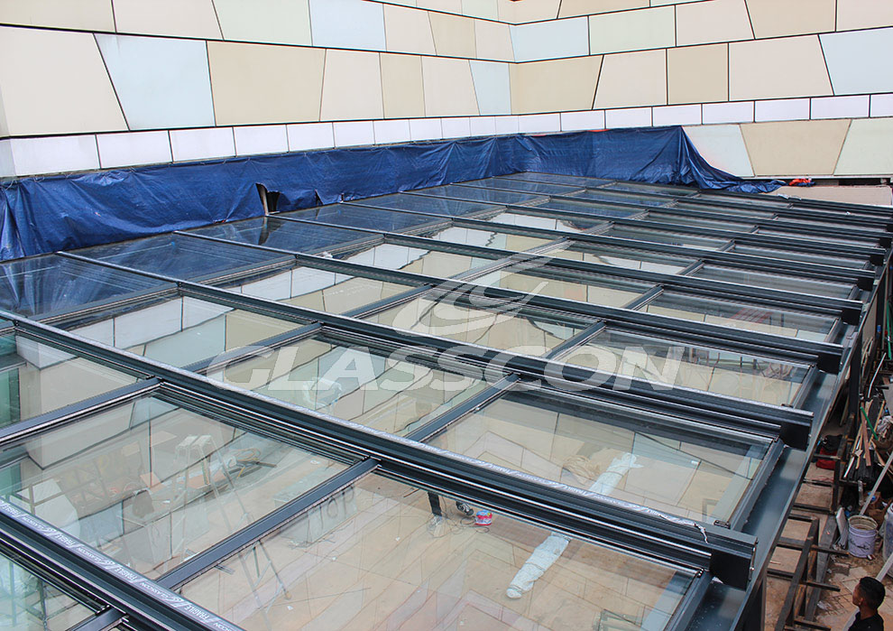 Building Skin   Retractable Pool Enclosure JAKARTA INDONESIA Glasscon 01