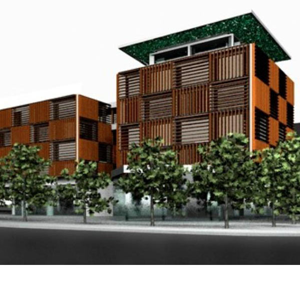 office building architecture. Architectural 3D Rendering Of The Active Second Skin Office Building Architecture