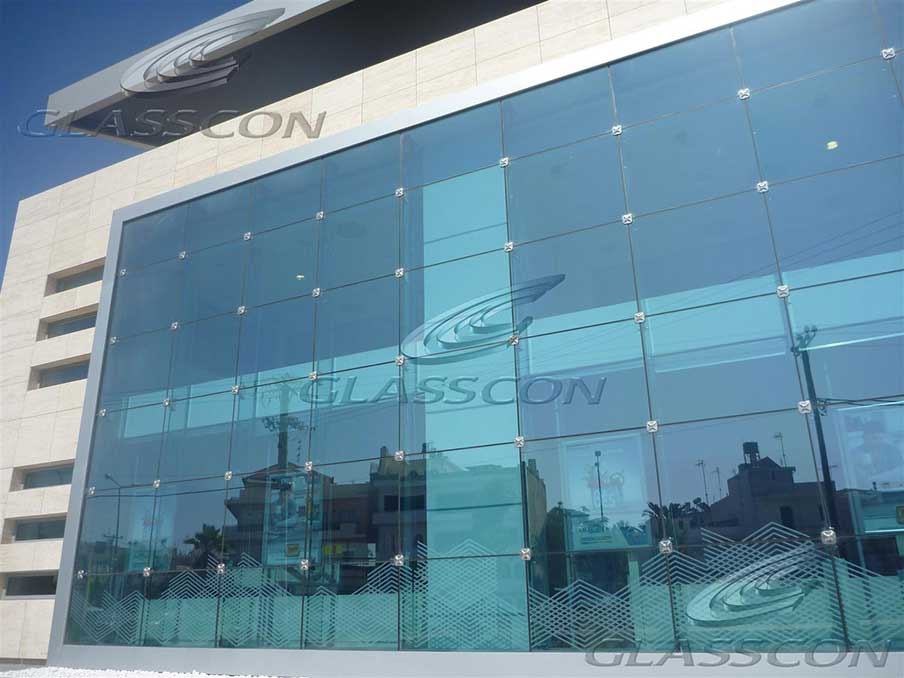 Ballistic Structural Glass Curtain Wall with Glass Fins | GLASSCON ...