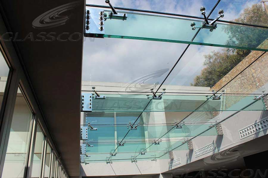 Suspended Structural Glass Roof Canopy Atrium On