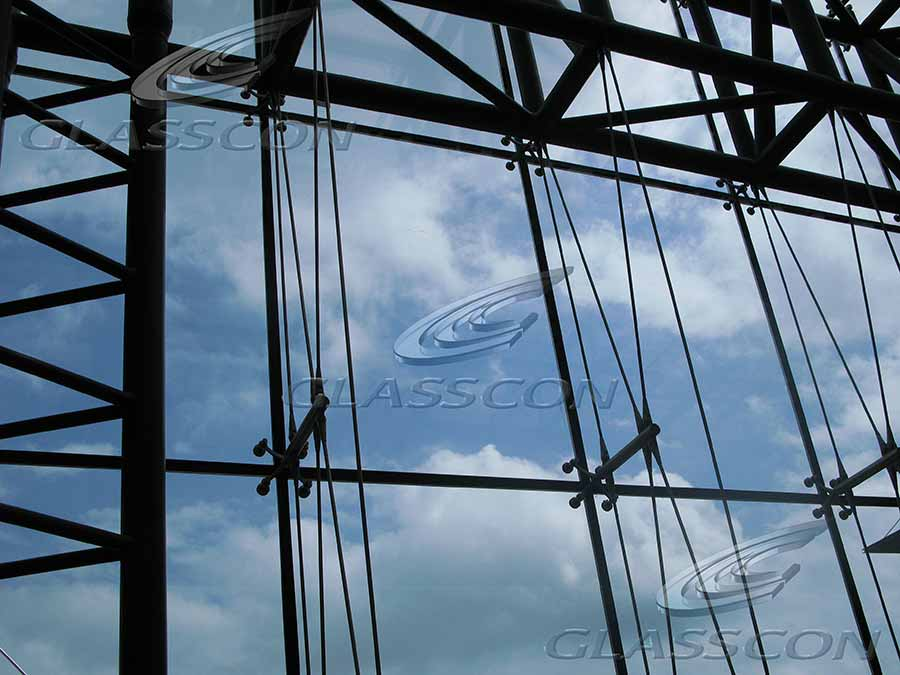 Spider Glass Wall : Spider glass curtain walls with suspended stainless steel