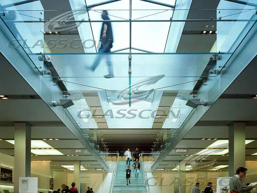 Glass Floors Amp Walkways In A Shopping Mall Glasscon Gmbh
