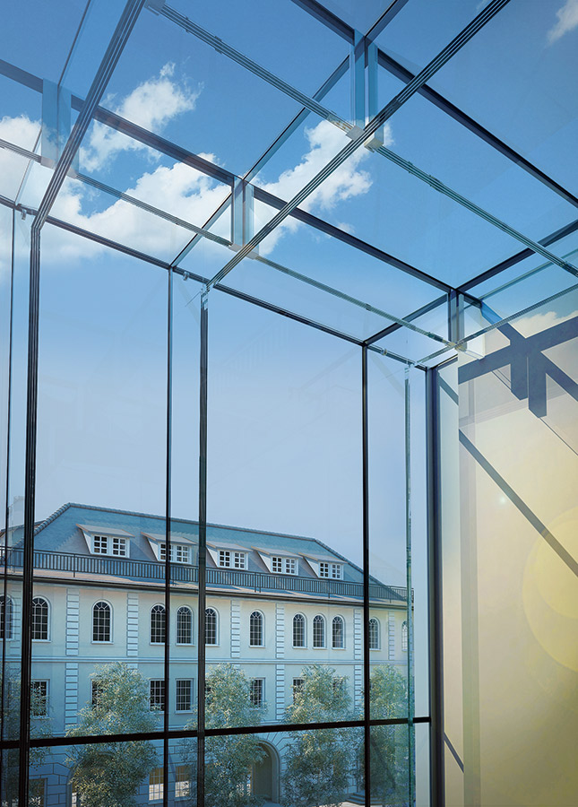 Supporting Glass Facade : Structural glass atrium glasscon gmbh architectural