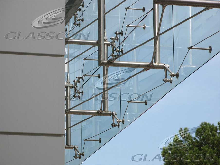 Suspended Curtain Wall : Shipping company architectural building envelope