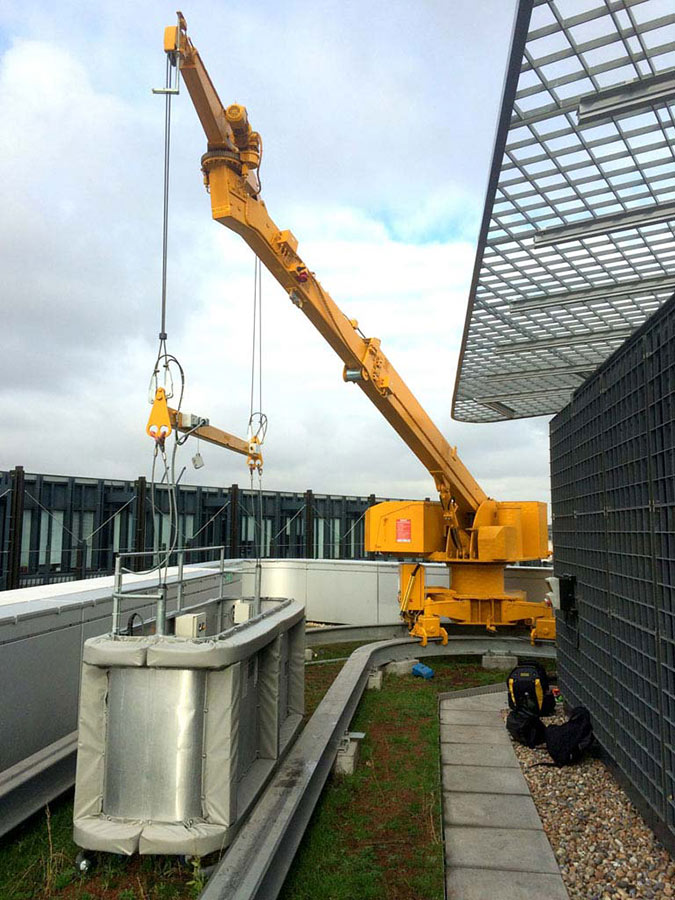 Building Cleaning Equipment : Bmu maintenance equipment glasscon gmbh