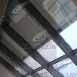 Glazed Skylight with Motorized Conservatory Screens