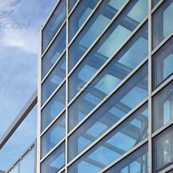 aluminum curtain walls stick system glasscon gmbh