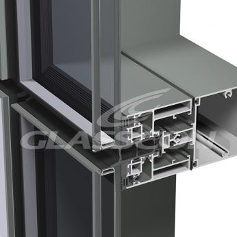 Aluminum Curtain Walls - Unitized System