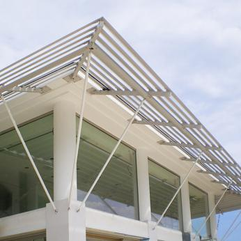 Cantilever Louvres - Fixed Solar Shades