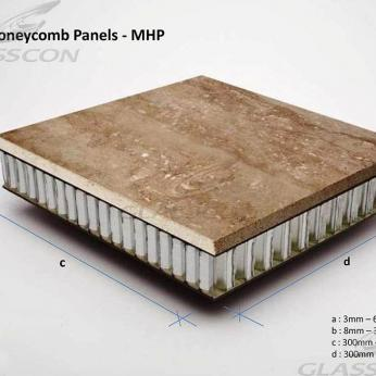 "Marble Stone Honeycomb Panels ""GLASSCON GHP ALU-MARBLE"""