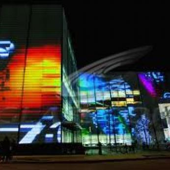 Media Illuminated Curtain Walls - LED Lighting