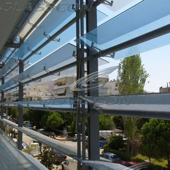 Glass Louvers - Motorized or Fixed Glass Shades