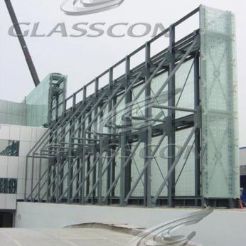 Curtain Walls & Double Skin Façade With Glass Frit