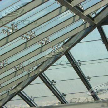 Skylight Pyramid & Glass Bridge in Office Building