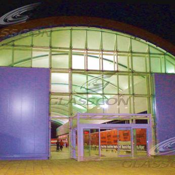Shopping Mall Entrances with Spider Glass Curtain Wall