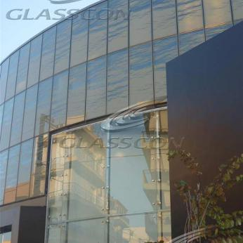 Fritted Glass Curtain Wall with Picture Print