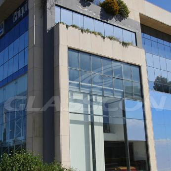 Spider Glass Curtain Wall on Steel Substructure Truss Glasscon 08.jpg