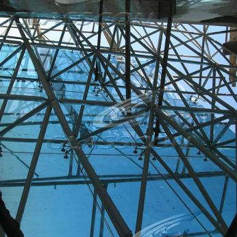 Spider Glass Curved Curtain Wall on MERO SPACE FRAME 3D TRUSS Glasscon 09.jpg
