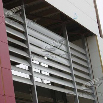 Outdoor Motorized Aluminium Louvers